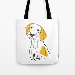 Dog Modern Line Art Tote Bag