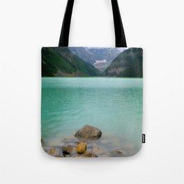 Rainy Day on Lake Louise Tote Bag