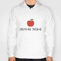 death note Hoodies featuring Death Note Apple by Thomas Official