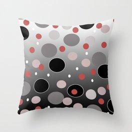 Polka Dotty: Gradients Throw Pillow