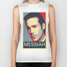 Baltar 'Messiah' design. Inspired by Battlestar Galactica. Biker Tank
