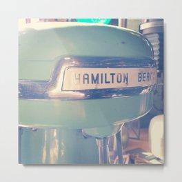 Tiffany Blue Hamilton Beach Metal Print
