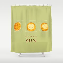 Porcupineapple Bun Shower Curtain
