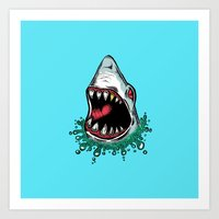Surprise, Shark! Art Print