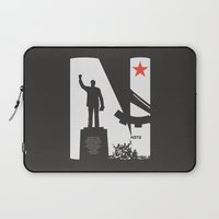 1975 Laptop Sleeves featuring Neto 11Nov 1975 Black by Angola