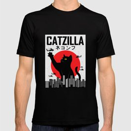 CATZILLA Cat Kitty Japan Vintage Gift T-shirt