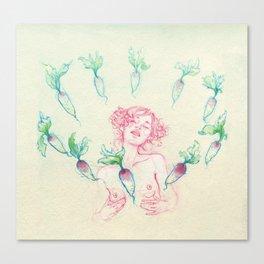 Natasha Shy Canvas Print