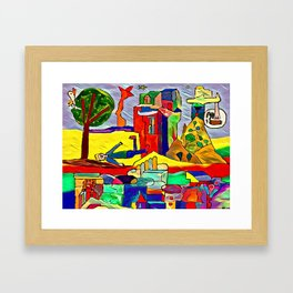 The fall Framed Art Print