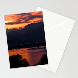 Locarno and Ascona at sunset Stationery Cards