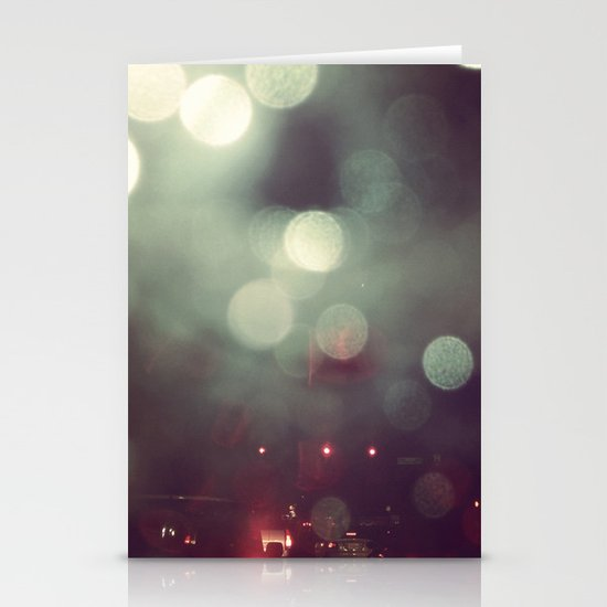 Bokeh @ Night Stationery Cards