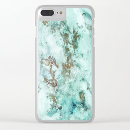 MARBLE - INKED INCEPTION - GOLD & ICE Clear iPhone Case