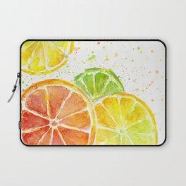 Fruit Watercolor Citrus Laptop Sleeve