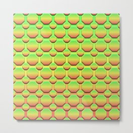 Octagons - Tricolor Metal Print