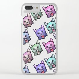 angry cats Clear iPhone Case