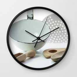 Spoon of old and new from time Wall Clock
