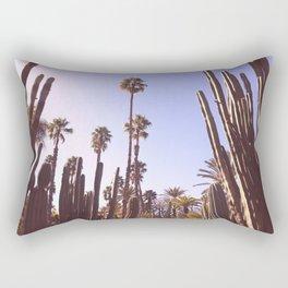Palm trees, cactus and summer Rectangular Pillow