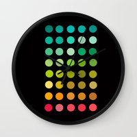 pantone Wall Clocks featuring Pantone by lescapricesdefilles