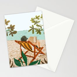 Vacay Book Club #illustration #tropical Stationery Cards