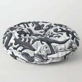 maurits cornelis escher - Mosaic II Floor Pillow