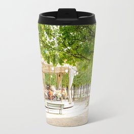 Charming Carousel in Paris France Travel Mug
