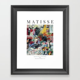Interior with a Girl Reading - Henri Matisse - Exhibition Poster Framed Art Print