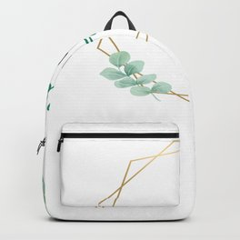 Love Hope Faith Golden Lines With Leaves Backpack