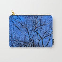 Blue Winter Carry-All Pouch