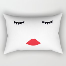 girl face - lashes and lips Rectangular Pillow