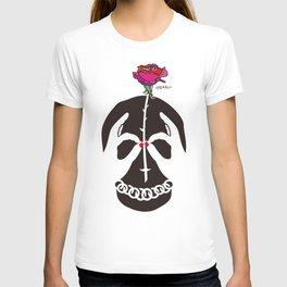 Skull and Rose Illustration T-shirt