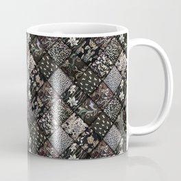 Faux Patchwork Quilting - Black Coffee Mug