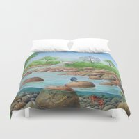 river Duvet Covers featuring  river  by Amy Fan
