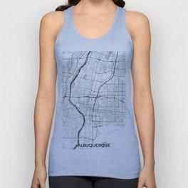 Albuquerque Map Gray Unisex Tank Top