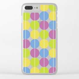 Green | Purple | Blue | Yellow Circle Pattern Clear iPhone Case