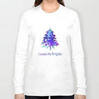 christmas tree Long Sleeve T-shirts featuring Christmas Tree by tscreative