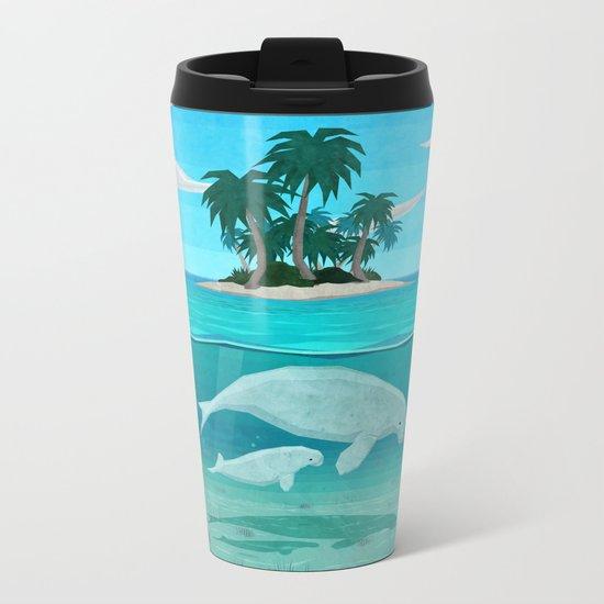 Manatee Island Metal Travel Mug