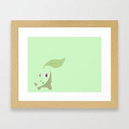 Chikorita PKMN Framed Art Print