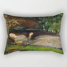 Ophelia, John Everett Millais Rectangular Pillow