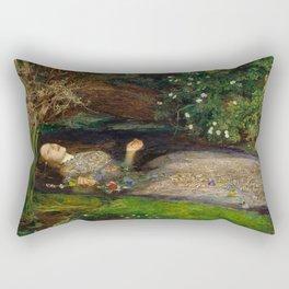Ophelia, John Everett Millais Rectangular Pillow