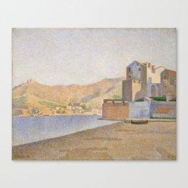 The Town Beach, Collioure, opus 165 Canvas Print
