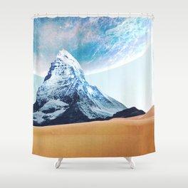 Worlds Colliding Shower Curtain