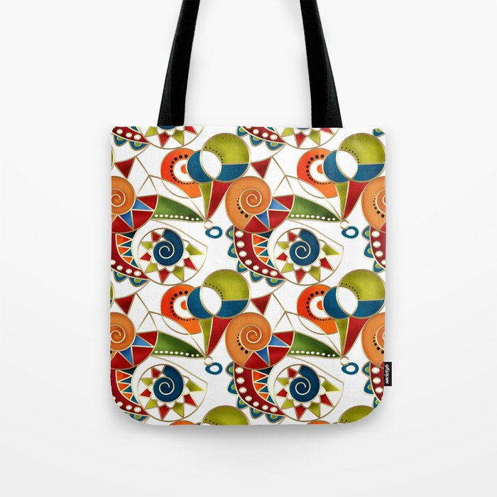The art design. Carousel. Tote Bag