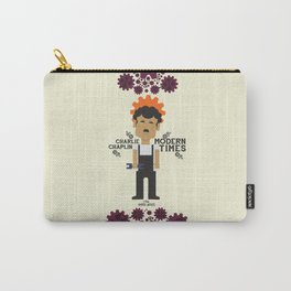 Modern Times - Charlie Chaplin, classic, movie Poster Carry-All Pouch