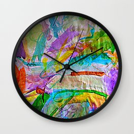 Lily's Watercolor Wall Clock