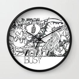 Bored vs. Busy Wall Clock