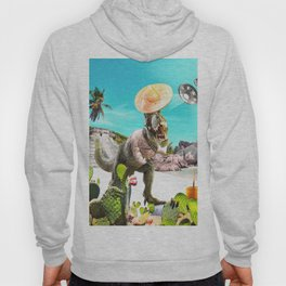 UFO Dinosaur T-Rex Abduction Hoody