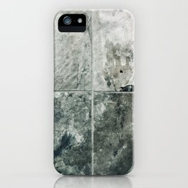 Marble tile in shades of gray iPhone Case