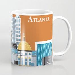 Atlanta, Georgia - Skyline Illustration by Loose Petals Coffee Mug