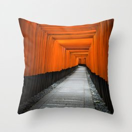 Kyoto Shrine Throw Pillow