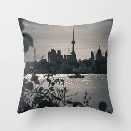 A View From The Water. Toronto CN Tower, Cityscape Photograph Throw Pillow
