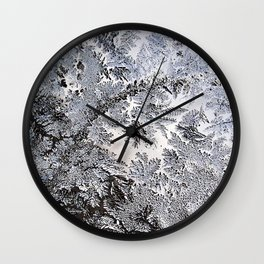 Frosty Glass Abstract Wall Clock